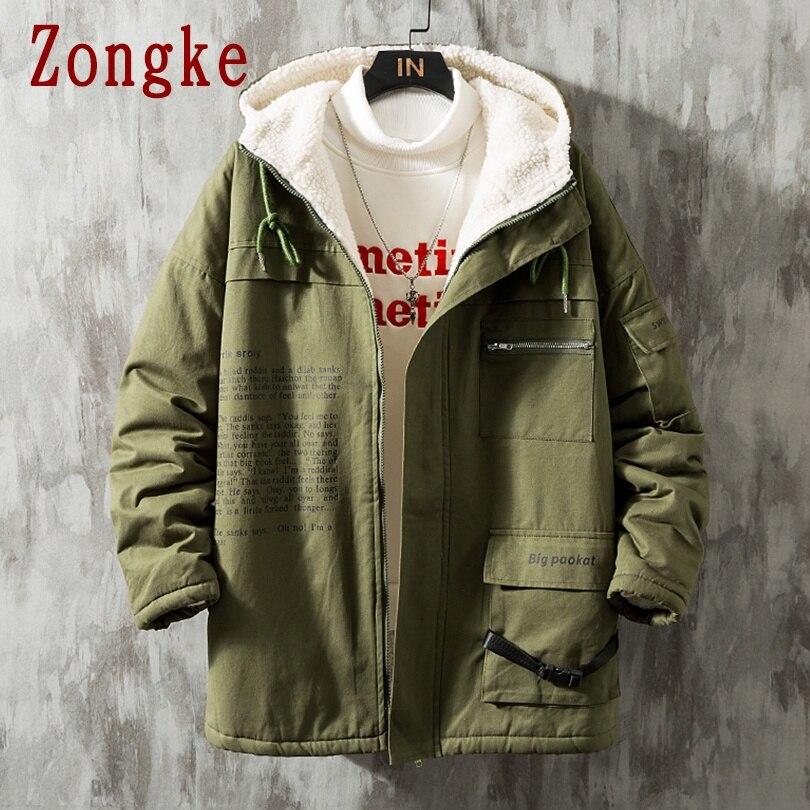 Zongke худи зимняя мужская куртка с капюшоном, пальто, осенняя парка, зимняя куртка, Мужская одежда, мужская парка 2020, зима, Новое поступление, ...