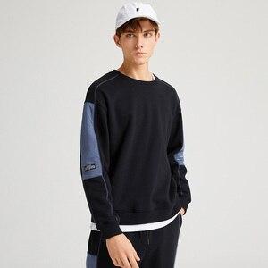 Image 3 - Pioneer Camp grube bluzy dla mężczyzn O neck ciepły polar moda Streetwear czarne bluzy dla mężczyzn AWY905051