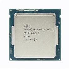 Intel processador xeon e3 1270 v3, processador de 3.5ghz lga1150 8mb, processador central quad core sr151
