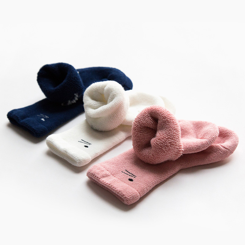 Autumn Winter Terry Thick Baby Girls Socks 0-3Y Newborn Towel Itube Cottoncotton Baby Socks Leg Warmers Infant Baby Long Socks