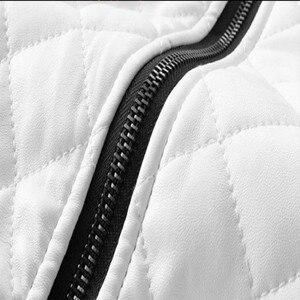 Image 5 - 2020 Mens מעילי עור מזדמן באיכות גבוהה קלאסי אופנוע אופני מעיל גברים בתוספת עבה מעילי האביב/סתיו chaqueta hombre