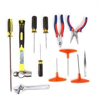 12pcs Sewing Machine Repair Tool Set Tweezers+Round Head Hammer+Needle Pliers Nose+Wrench Repair Kits