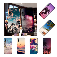 Sommer Strand Hawaii Aloha Meer Ozean Kunden Telefon Fall für Huawei P9 10 lite P20 pro lite P30 pro lite psmart mate 20 pro lite(China)