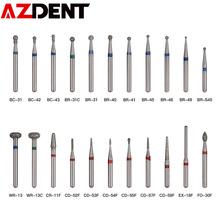 5 sztuk paczka 1 6mm dentystyczne wiertła diamentowe zestaw wiertła szybka prostnica polerowanie wygładzanie diamentowe Burs kit BR-31 BR-31C tanie tanio AZDENT STEEL Dental Diamond Burs Set