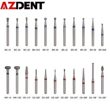 5pcs/pack  1.6mm  Dental Diamond Burs Set Drills High Speed Handpiece Polishing Smoothing  Diamond Burs Kit BR-31 BR-31C