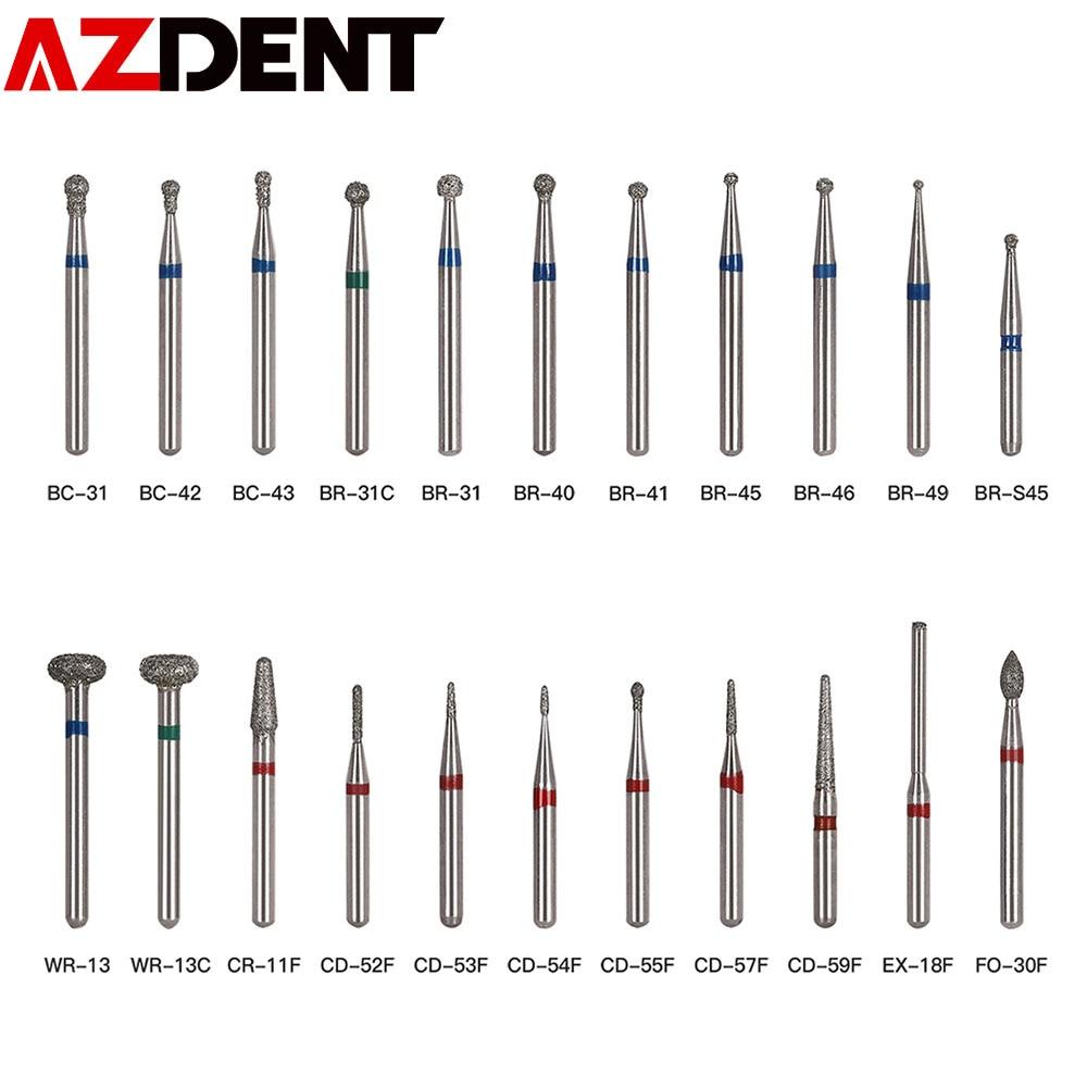 5pcs/pack Dental Diamond Burs Set Drills High Speed Handpiece Polishing Smoothing  Dentist Tools Diamond Burs Kit BR-31 BR-31C