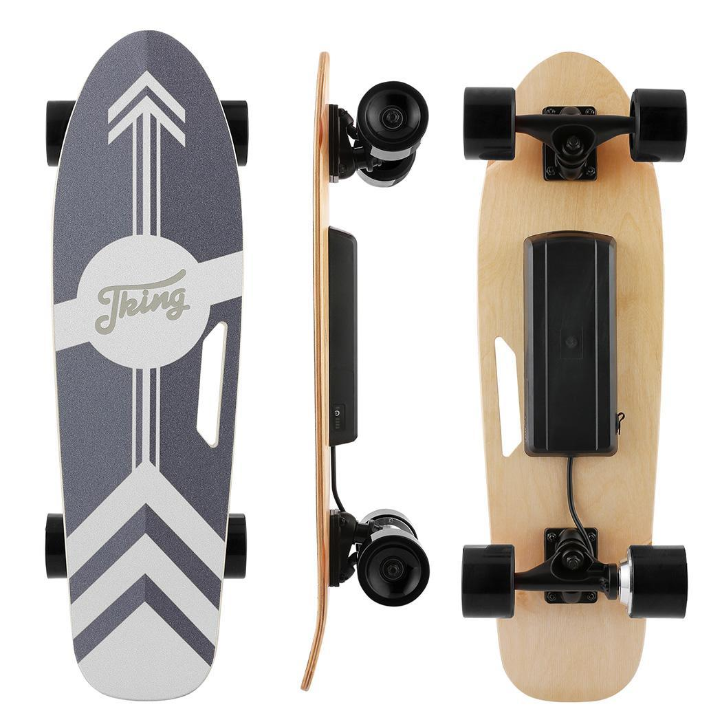 PU Wheel 3-Speed Electric Skateboard Lithium Battery Powered with Remote Controller 29.4V 2000mah Lithium Battery Maple Deck 3