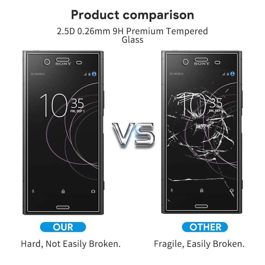 2.5d 9h vidro temperado para sony xperia 1 xz4 xz3 x xz1 x compacto xa1 xa ultra xzs xz2 xz premium protetor de tela de vidro