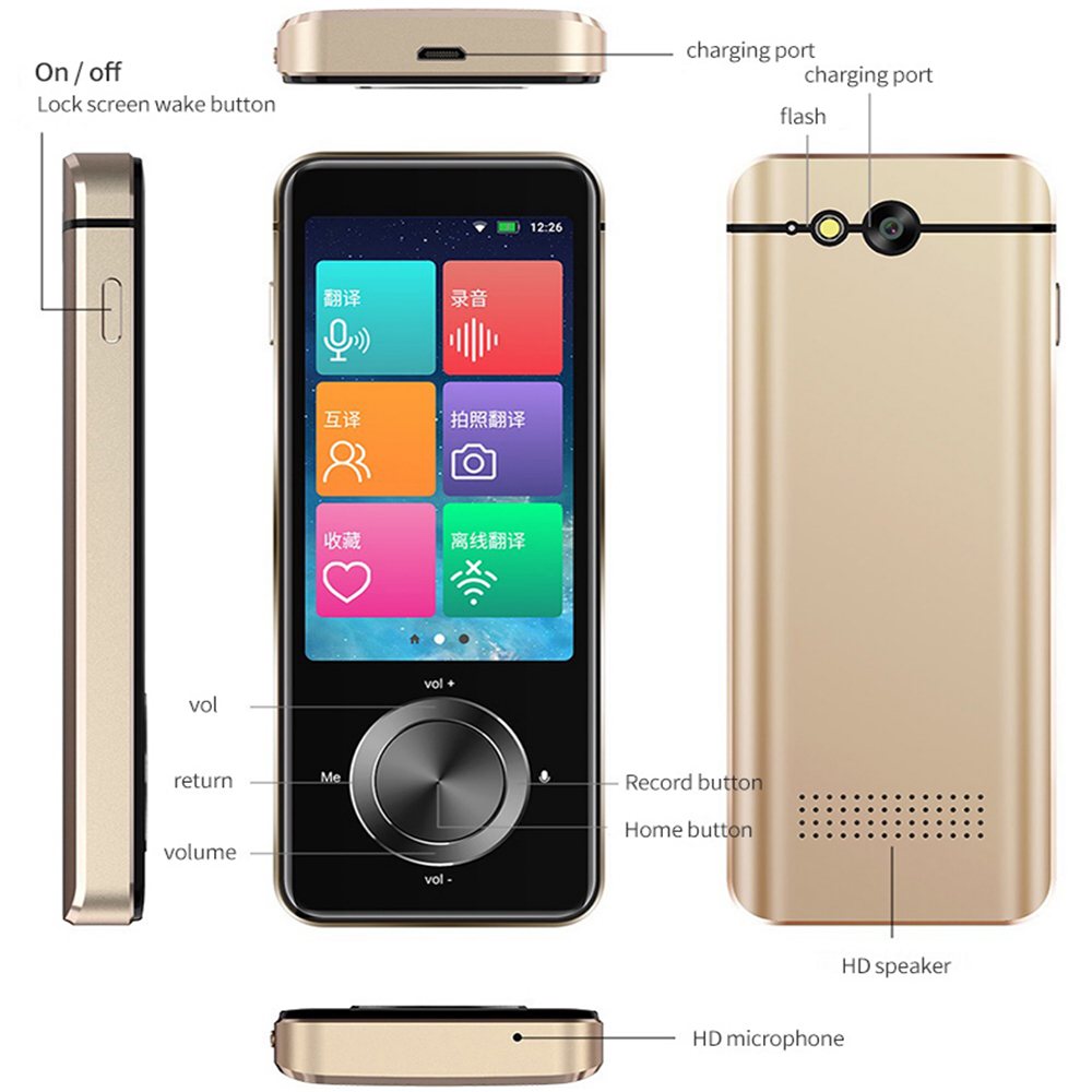 M9 Portable Smart Voice Translator Global Offline Translator Interpreter Online Translator Intelligent Translation Russian 6