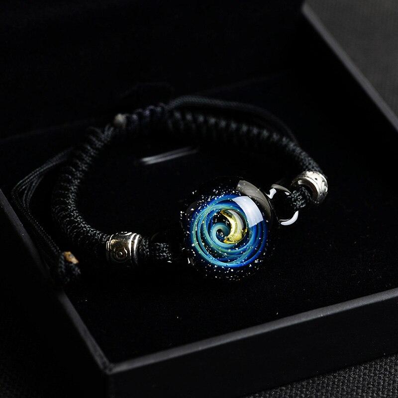 BOEYCJR, горячая Распродажа, Вселенная, планеты, стеклянные браслеты из бисера и браслеты, модные ювелирные изделия, галактика, солнечная система, браслет для женщин, Рождество - Окраска металла: 14