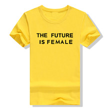 Summer Fashion 2019 Women THE FUTURE IS FEMALE Letters Printing Short sleeve All-match O-neck Black White Casual T shirt