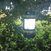 LED Camping Lantern Rechargeable 18650 Battery Spotlight Flashlight - 3000 MAh USB Rechargeable Power Bank 4 Light Modes Perfect