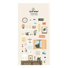 Korea Sonia Scrapbooking High Paper Sticker Moon Night Stationery DIY Decoration Home Supplies Suatelier Stickers