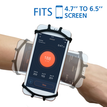 Universal Gym Running Sports Wristband for iPhone X XS Max  XR Case Cover Holder Arm Band Wrist Case Bag for 4 to 6.5 Inch Phone