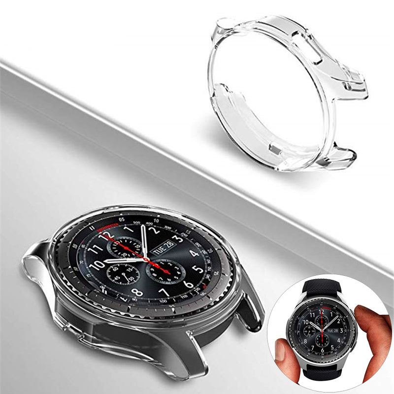 watch case For samsung Galaxy Watch 46mm 42mm/for Gear S3 frontier strap cover plated All-Around protector shell frame Accessory