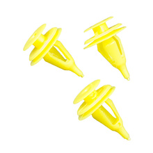 2-1 Yellow Car Door panel fender clips fit for most 9mm plastic hole for Toyota 67771-30090 Land Cruiser 2WD Truck 1991 цены онлайн