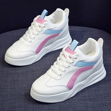 BJYL New Tenis Feminino Lace-up White Shoes Woman Pu Leather Solid Color Female Casual Women Sneakers Zapatos De Mujer B425 2018 new brand shoes woman women flats couples sneakers casual zapatos mujer tenis feminino chaussures femme lace up