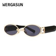 WERGASUN-Gafas de sol Vintage para hombre y mujer, lentes de sol de lujo, ovaladas, Punk, a la moda, UV400, novedad de 2020