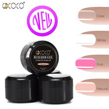 4 pcs/set * 15ml Dikke Builder Gel GDCOCO Nail Salon Losweken Camouflage Cover Roze Canni factory Aanbieding UV LED Clear Gel(China)