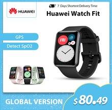 グローバルバージョンhuawei社腕時計フィットワークアウトアニメーション血液酸素心拍数モニター10日バッテリ寿命のgpsスマート腕時計