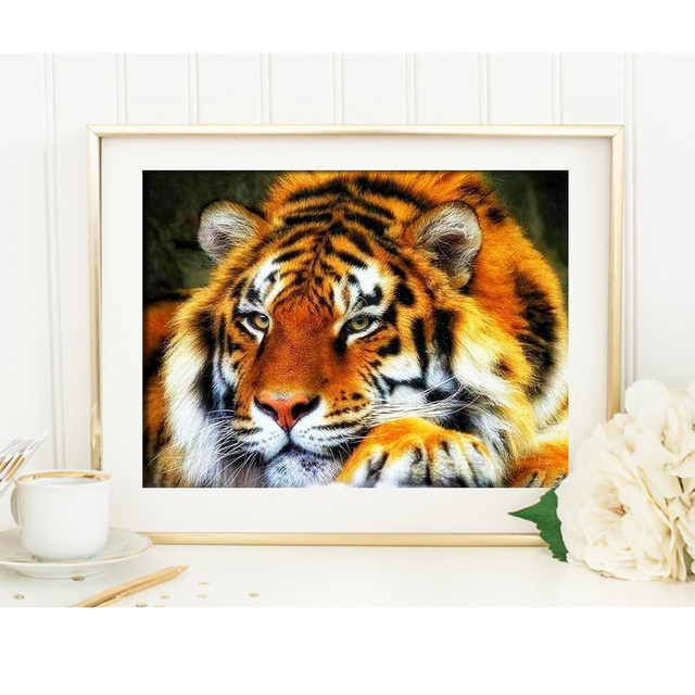 Diamond Embroidery Tiger Diy Diamond Painting Full Square Animals Picture Of Rhinestone Diamond Mosaic Pattern Crafts