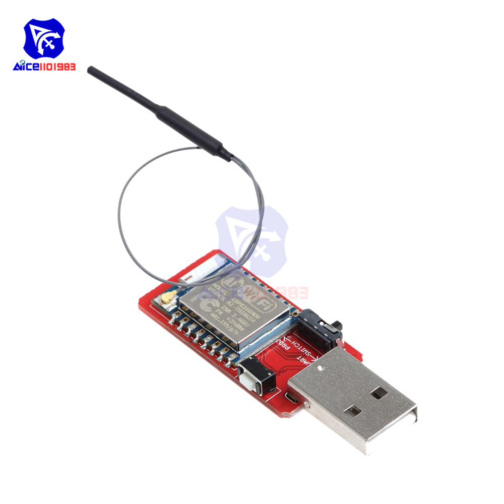 diymore ESP8266 ESP-07 Wi-Fi Wireless Module <font><b>USB</b></font> to TTL CH340G Development Board 2.4Ghz 3dBi IPEX <font><b>Antenna</b></font> for Arduino image
