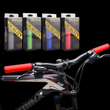1 Pair Bicycle Handlebar Cover Silicone Antiskid Cycling Handle Bar Ends MTB Mountain Bicycle Handlebar Grips Cover Cycling Part 1 pair mountain bike bicycle bar ends mtb cycling carbon fiber small auxiliary handlebar bicycle parts accessories high grade