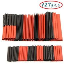 127 stücke 2:1 Schrumpf Schläuche Kit Isolierung Elektrische Assorted Wärme Schrumpf Kabel Hülse Rohre Draht Wrap