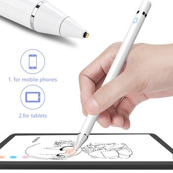 Pióro dotykowe rysik do telefonów komórkowych długopis Stylus do tabletów Xiaomi iPad Huawei Samsung pióro do rysowania tanie i dobre opinie Pojemnościowy ekran Uniwersalny Tabletki Innych touch pen Metal White Black red silver gold rose gold Active Stylus Touch Pen