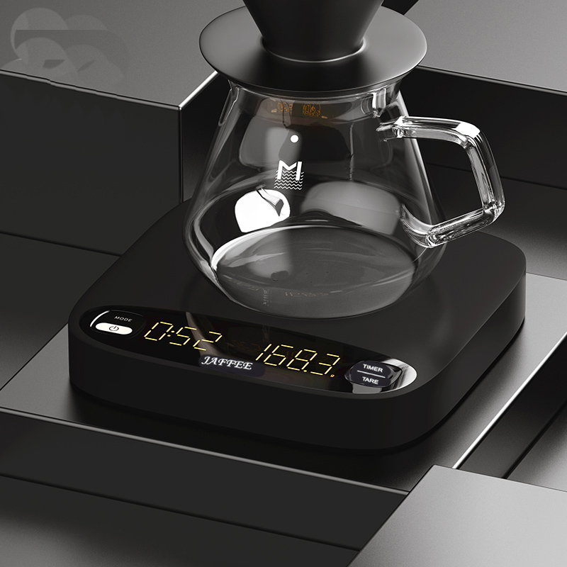 Smart Coffee Scale LED Display USB Rechargable Automatic Taring /timing For Esprsso Coffee Or Pour Over Coffee Kitchen Scale 2kg