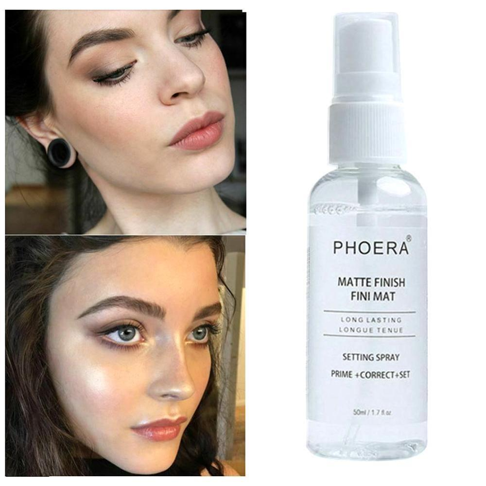PHOERA Makeup Setting Spray Moisturizing Lasting Face Foundation Fixer Matte Finishing Setting Spray Cosmetic Primer Spray image