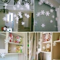 De plata 3M copo de nieve forma guirnalda de papel de escena de Navidad decoración de Año Nuevo artículos de fiesta de la línea Frozen de la decoración de la boda