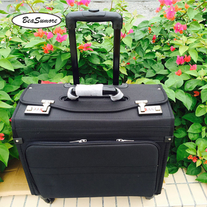 Image 2 - BeaSumore high quality Oxford captain Rolling Luggage Spinner Multifunction 18 Inch Laptop bag Men Women pilot Suitcase Wheels