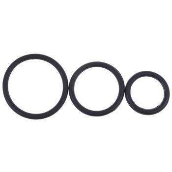 3 sztuk zestaw silikonowy trwały pierścień penisa dorosłych mężczyzn wytrysk opóźnienie Cock Ring trwały mocniejszy dłuższy erekcja Cockring mężczyzna Sex zabawki tanie i dobre opinie KuZHEN CN (pochodzenie) Silicone Penis Rings