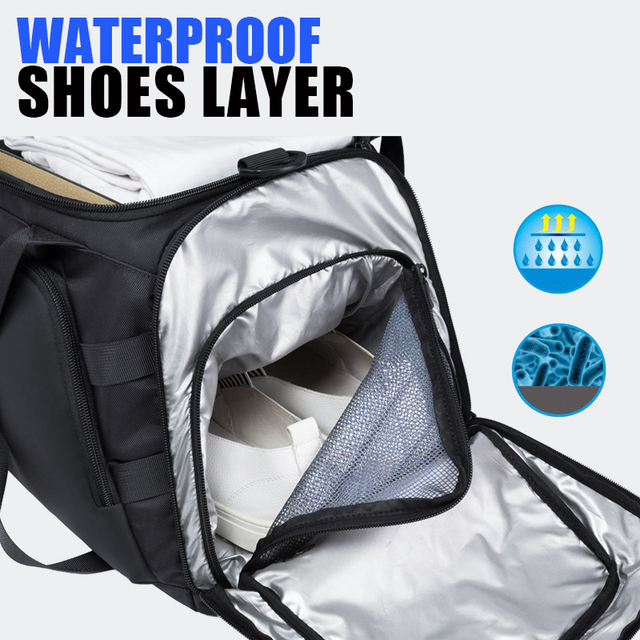 Bange Multifunction Large Capacity Men Travel Bag Waterproof Duffle Bag for Travel Backpack Hand Luggage Bags with Shoe Pouch 2