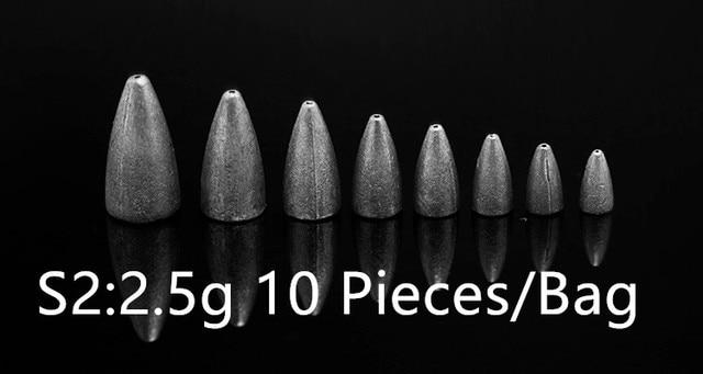 Fishing Tackle Accessories Down Sinker Bullet/Bite/Water Drop/Bar Lead Texas Florida Split Shot Wacky Rig 2-40 Pieces Bag