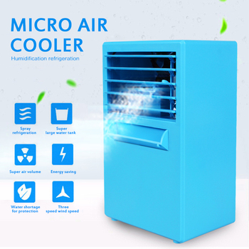 Portable Mini Fan Air Conditioner Conditioning Air Humidifier Purifier USB 2 Colors Desktop Cooler Fan Radiators for Home 2018 mini fan beauty portable rechargeable mini spray humidifier for smart home air conditioning fan
