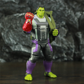 Marvel Avengers Endgame Hulk with Red Infinity Gauntlet and Quantum Suit 8inch. 2