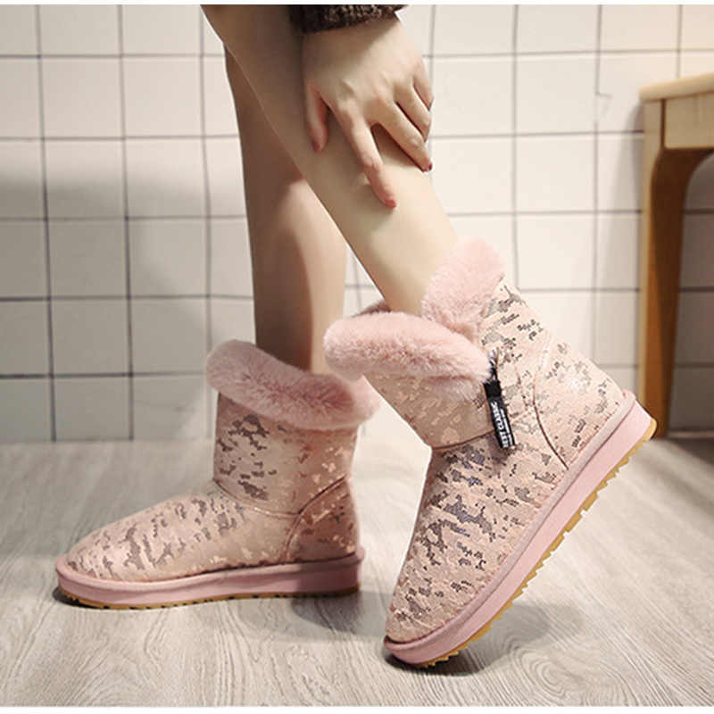 Winter Vrouwen Warm Enkellaarsjes Vrouw Comfort Korte Harige Pluche Laarzen Dames Mode Platform vrouwen Casual Vrouwelijke Rits Schoenen