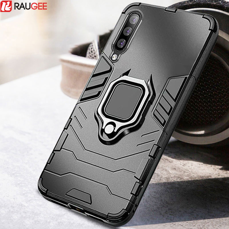 Bumper <font><b>Case</b></font> For <font><b>Samsung</b></font> <font><b>Galaxy</b></font> A40 A50 A30 A20 <font><b>A70</b></font> <font><b>Case</b></font> <font><b>Ring</b></font> Holder Phone <font><b>Case</b></font> Silicone Soft TPU&PC Back Cover Full Protector image