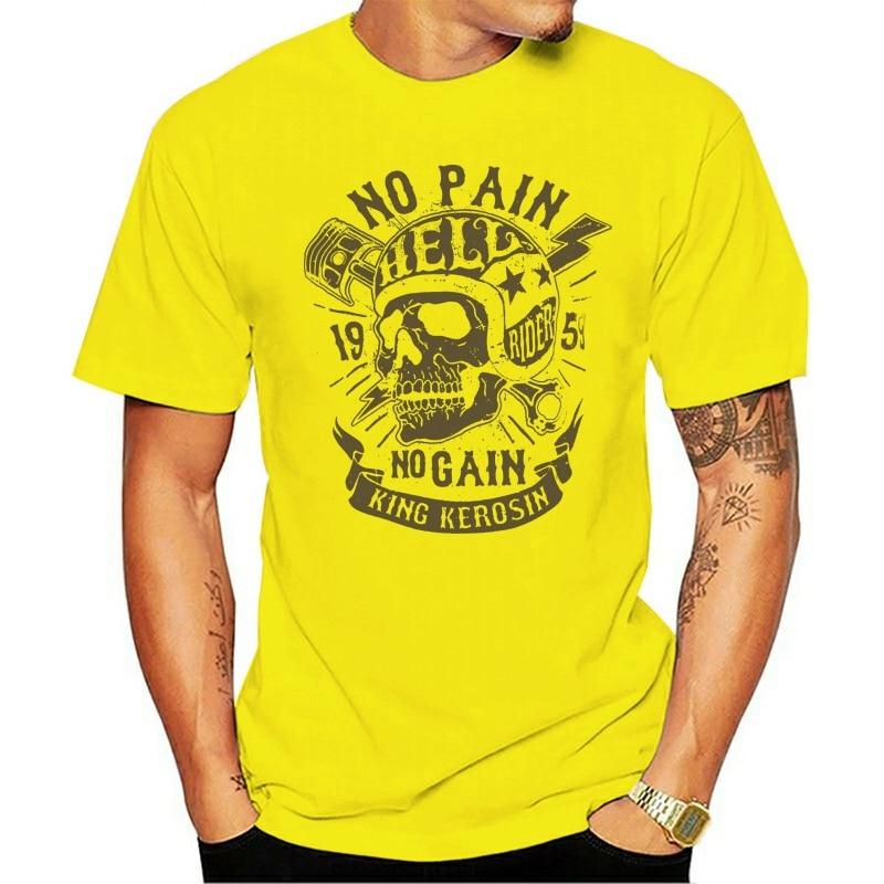 Rei Kerosin Nenhuma Dor Nenhum Ganho Regular Tpreto Impressomarca De Moda t-shirt 2021