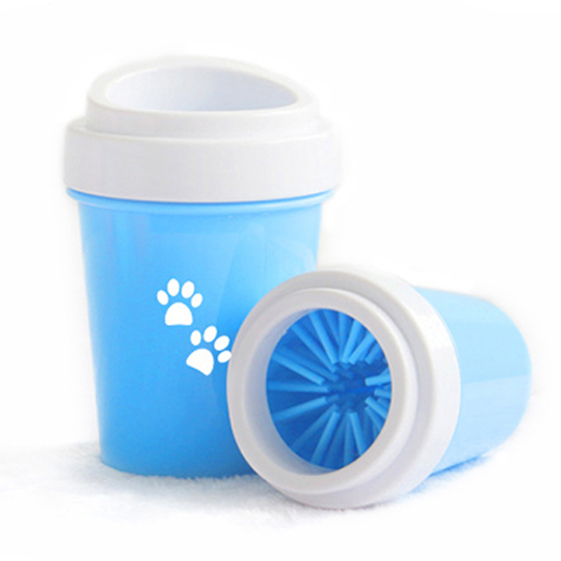 Pet Cat Dirty Paw Cleaning Cup Dog Paw Cleaner Cup For Small Large Dogs Pet Feet Washer Portable Soft Silicone Foot Wash Tool