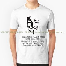 V Für Vendetta Mode Vintage T-shirt T Shirts Ideen Sind Kugelsichere V Für Vendetta V Anonymous Guy Fawkes Maske Film geek Film(China)