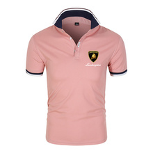 2021  Summer Cotton High Quality Men Polo Shirt Solid Short Sleeves Fashion Casual Shirts Male Sport College Print Tops