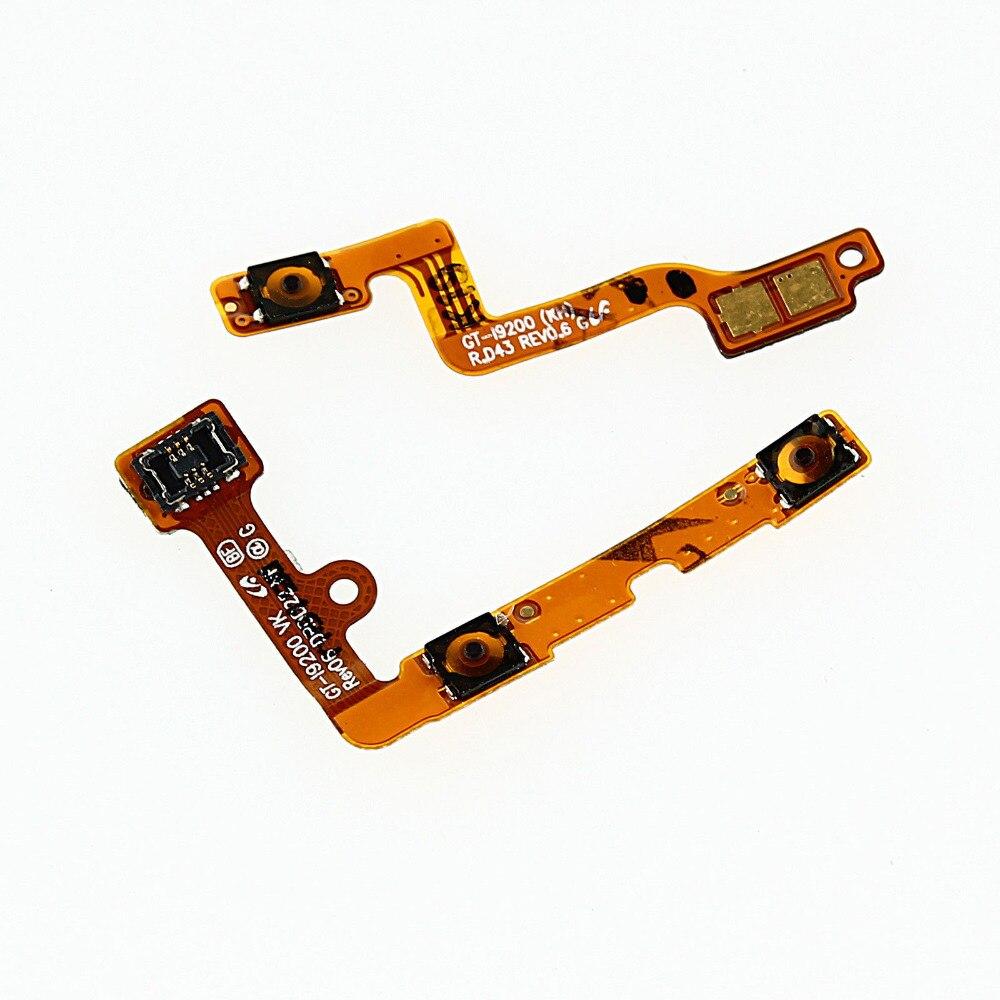 Volume de energia botão chave cabo flexível para samsung galaxy mega 6.3 i9200 i9205 i527 l600 r960 m819n peças de reparo