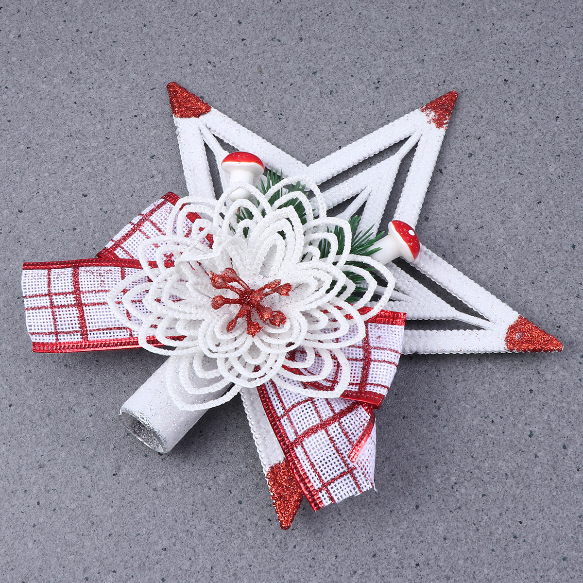 2 pcs Christmas Tree Topper Sparkle Star Plastic Shiny Ornament Christmas Tree Ornaments Xmas New Year Gift for Home in Tree Toppers from Home Garden