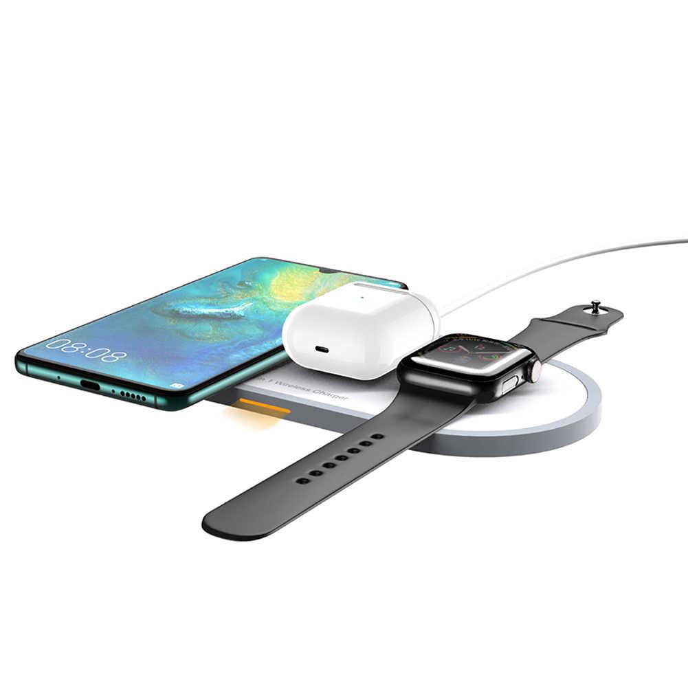 チー TYPE-C 高速マルチ iphone xs xs 最大 xr × 8 プラス airpods apple の時計ワイヤレス高速充電器 10 ワット 3 In1 充電スタンド