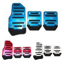Универсальная алюминиевая Автомобильная Тормозная муфта, ручная коробка передач, 3 шт., автомобильная Нескользящая педаль, ручной ускоритель, сплав, противоскользящая ножная педаль