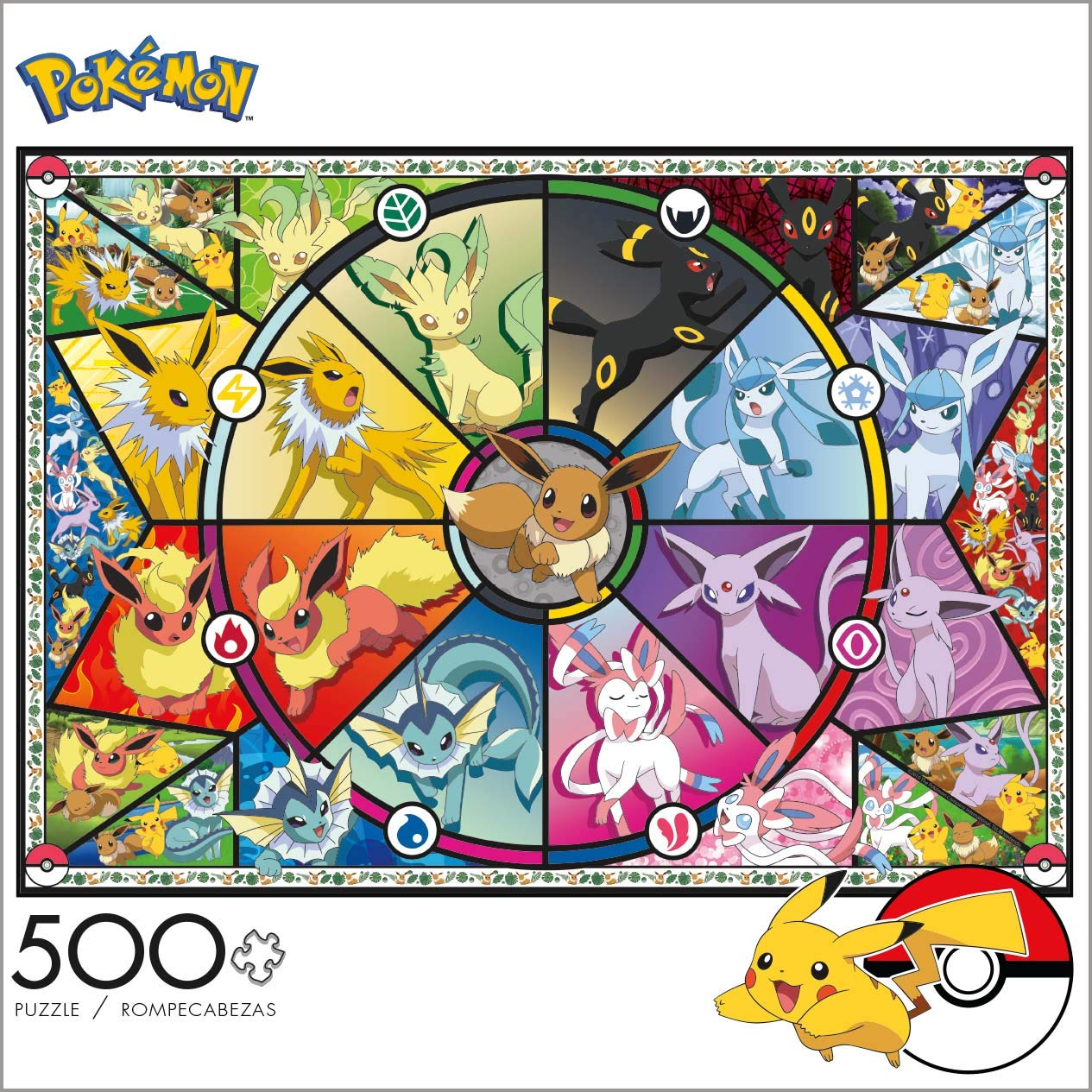 100 300 500 1000 2000pcs Pokemon Pikachu Plastic Paper Puzzle Action Figure Decoration Model Kids Toy Gift