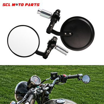 ALconstar-Mirrors Motorcycle Motorbike Scooters Rearview Mirrors Side View Moto 18mm Handle Bar End Rear New